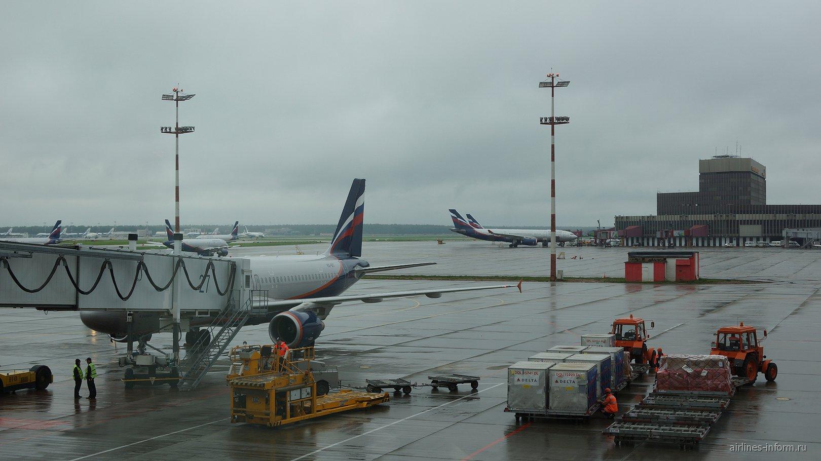 Перрон аэропорта Шереметьево