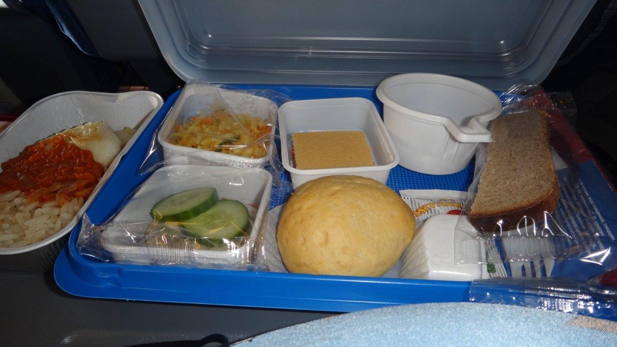 Питание на рейсе авиакомпании Трансаэро Москва-Владивосток