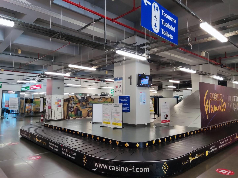 Зал выдачи багажа в аэропорту Скопье