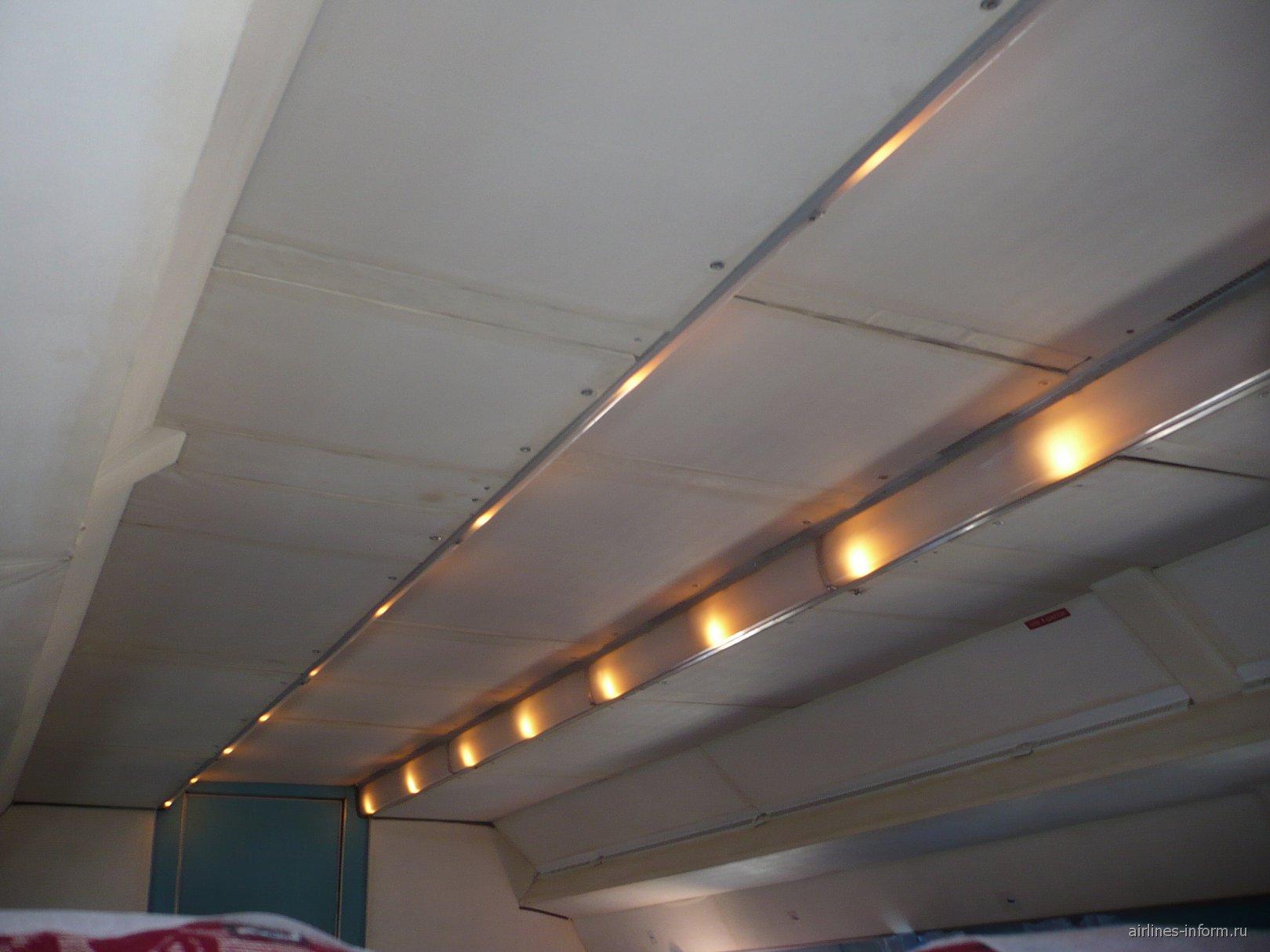 Салон самолета Ан-24 авиакомпании Псковавиа