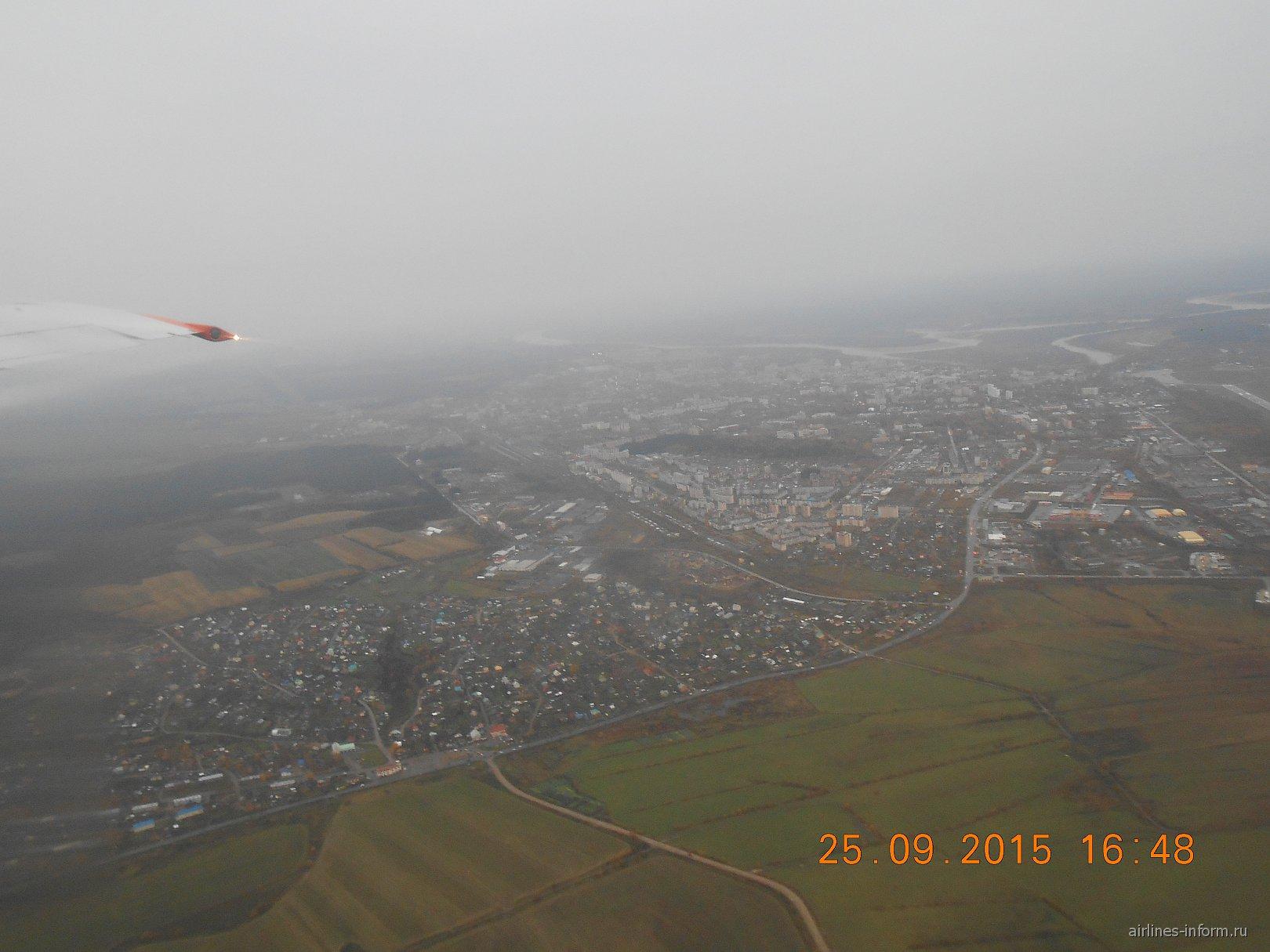 Вид из самолета на Сыктывкар