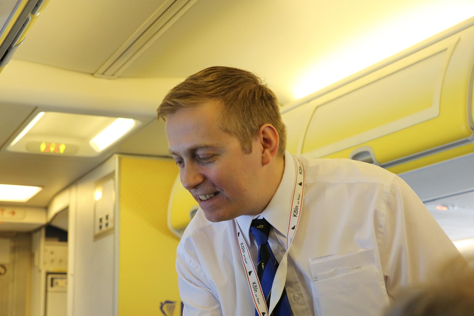 Бортпроводник авиакомпании Ryaniar