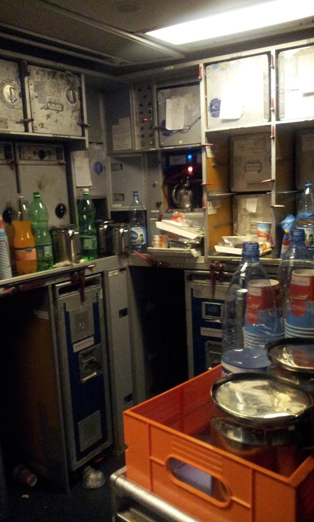 Кухня самолета Боинг-767-300 Аэрофлота