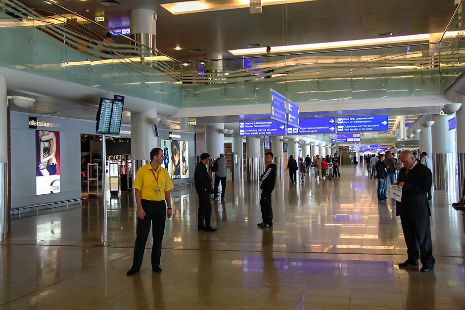 Зона прилета в терминале D аэропорта Шереметьево