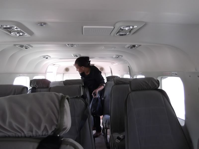 Салон самолета Cessna 208 авиакомпании Regional Air Services
