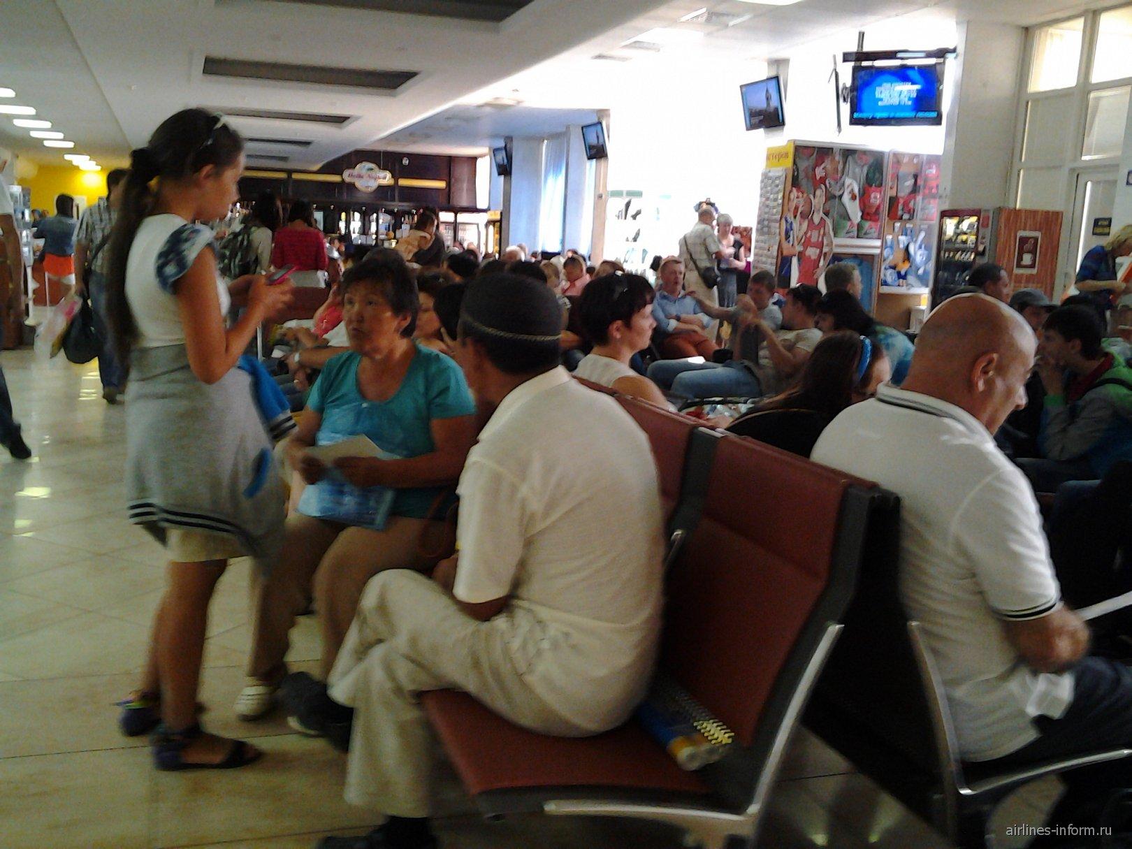 Зал ожидания аэропорта Краснодар Пашковская