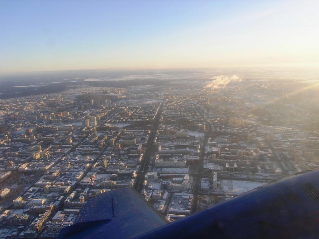 Под крылом город Пермь