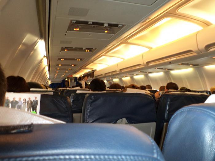 Салон Боинг-737-500 авиакомпании АэроСвит