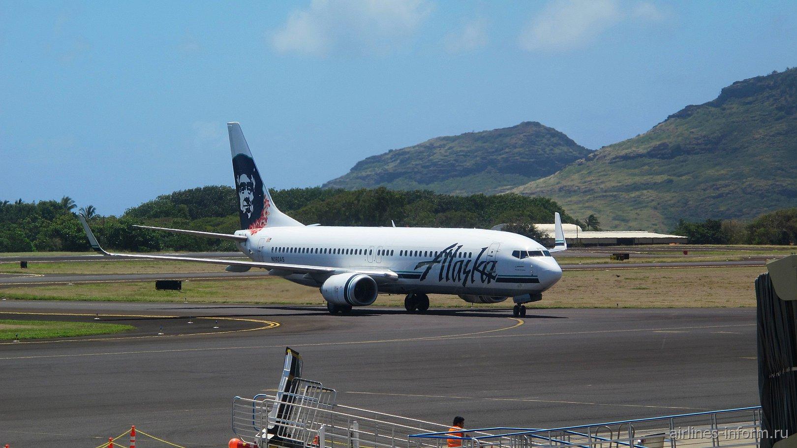 Boeing 737-800 N593AS авиакомпании Alaska Airlines в аэропорту Лихуэ