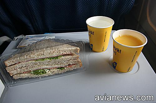 Питание на рейсе Киев-Львов МАУ