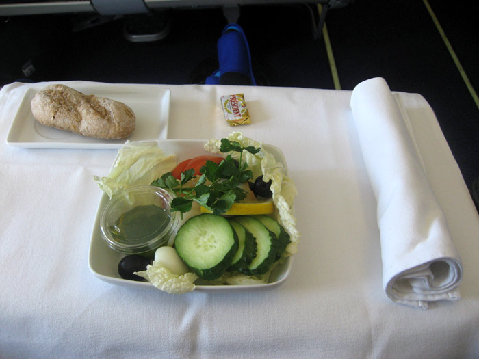 Meal on the flight Kyiv-New York of AeroSvit