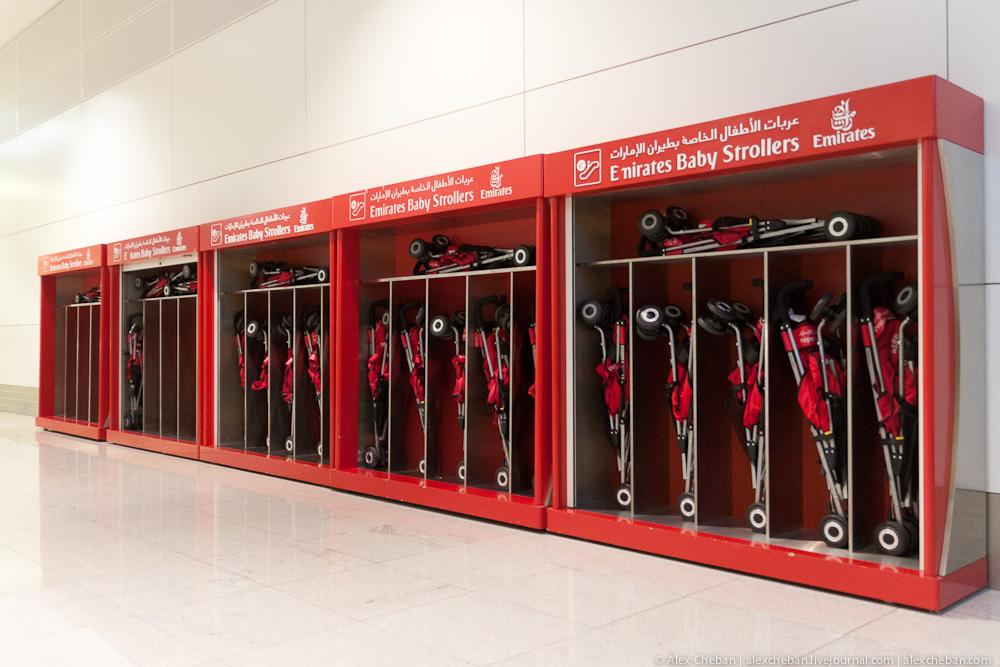 Бесплатные коляски в аэропорту Дубай