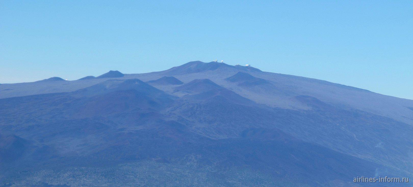 Вершины Мауна Кеа на острове Гавайи