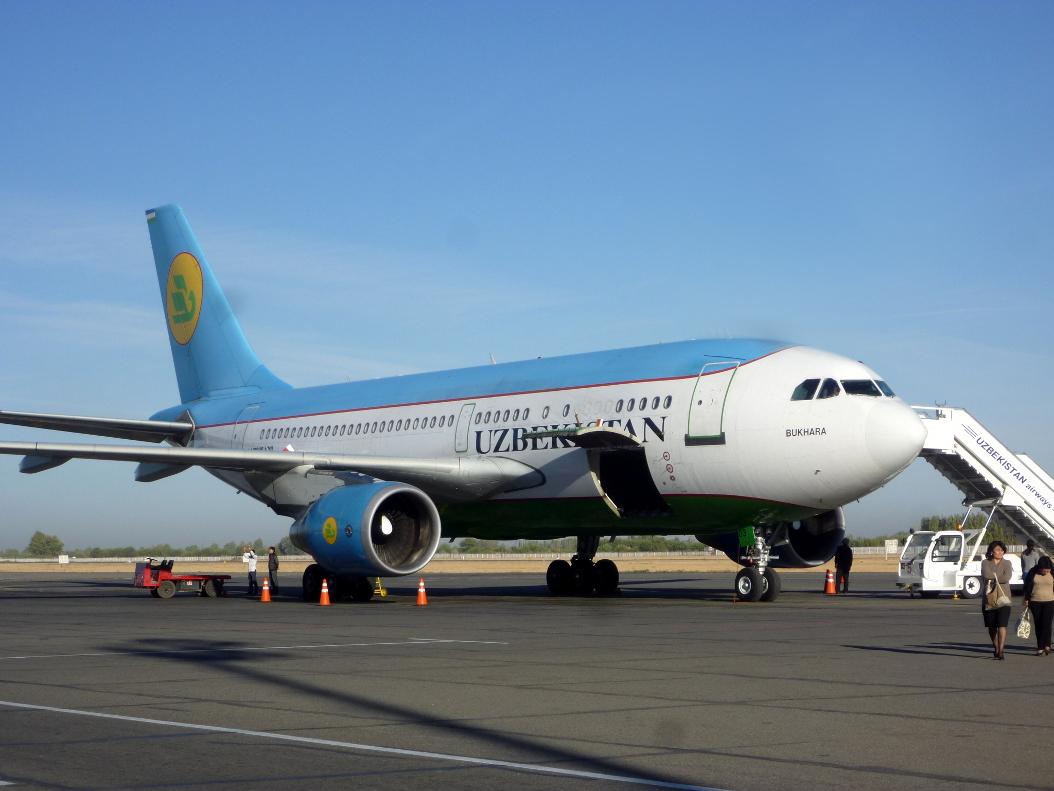 Эрбас А-310 Узбекских авиалиний в аэропорту Самарканда