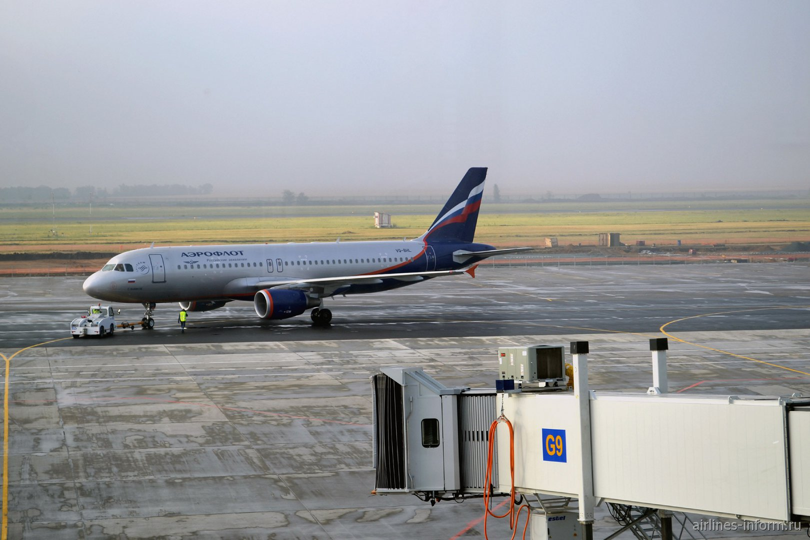 Airbus A320 Аэрофлота в аэропорту Самара Курумоч