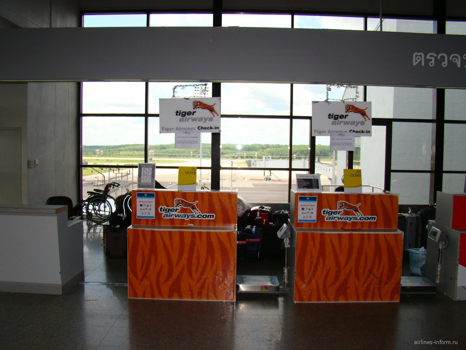 Стойки регистрации авиакомпании Tiger Airways в аэропорту Краби