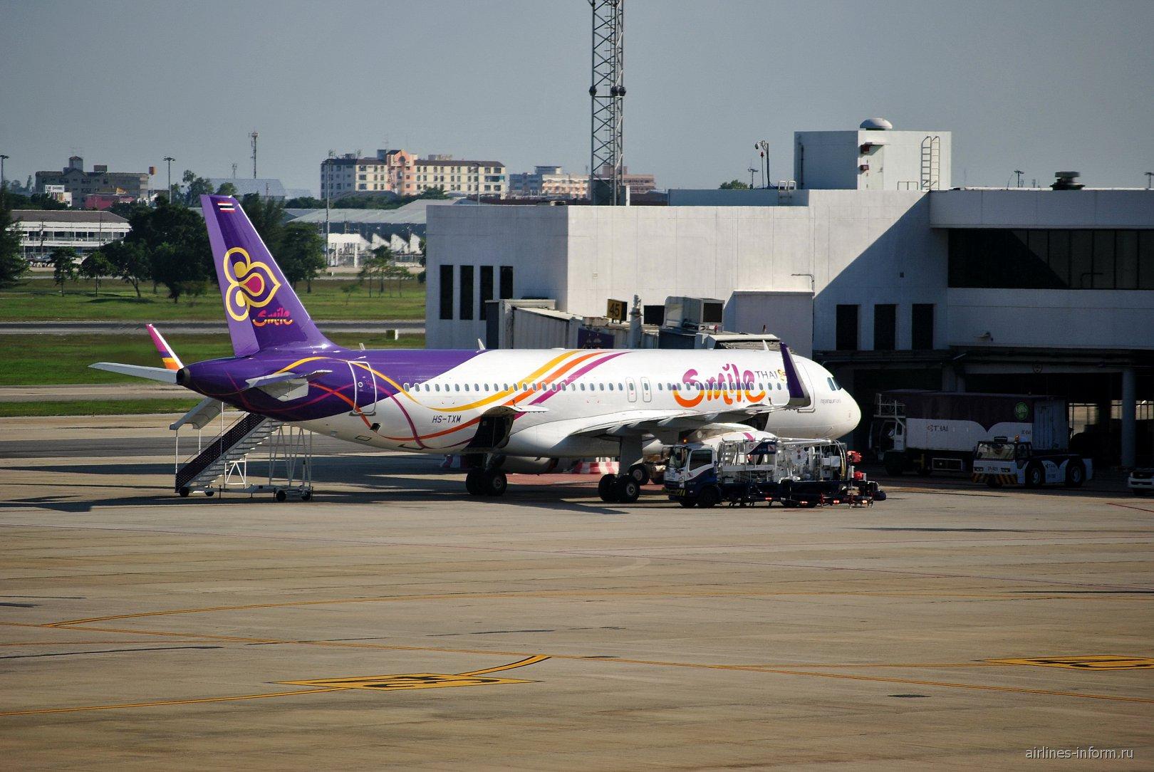 Airbus A320 авиакомпании Thai Smile в аэропорту Бангкок Дон Муанг