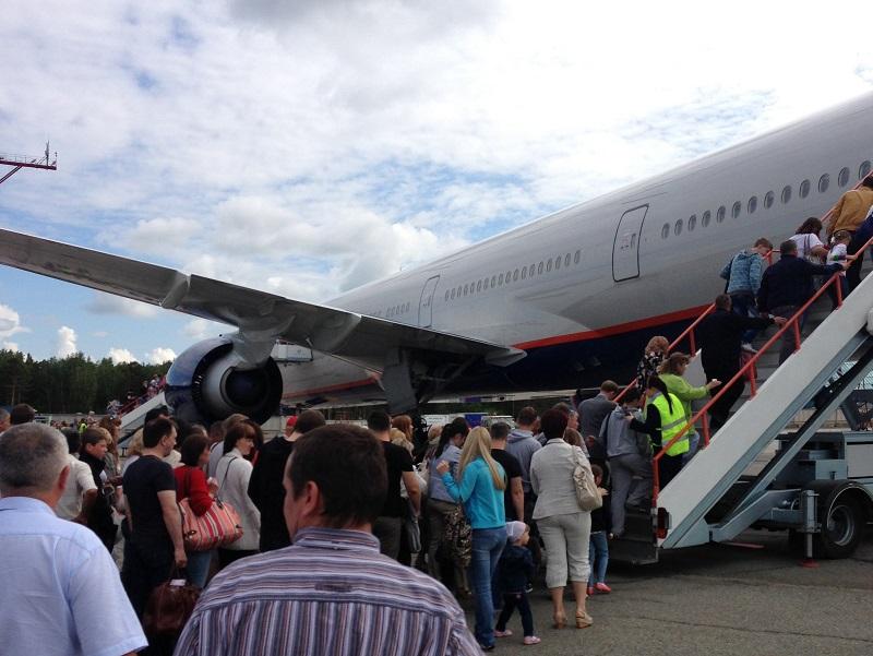 Посадка на рейс Аэрофлота Красноярск-Москва
