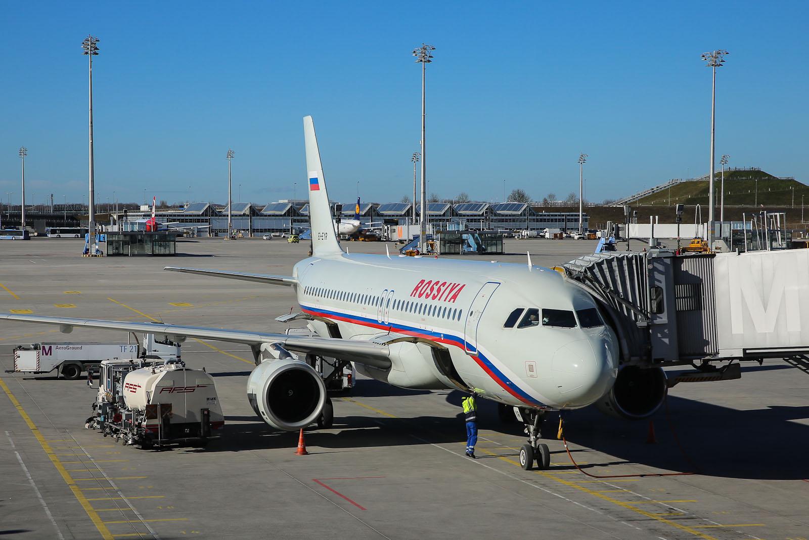 Airbus A320 авиакомпании Россия в аэропорту Мюнхен
