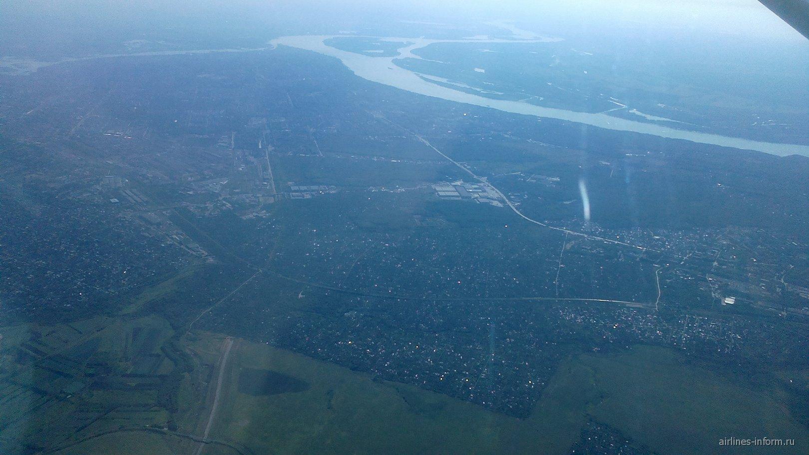 Вид на Самару из самолета