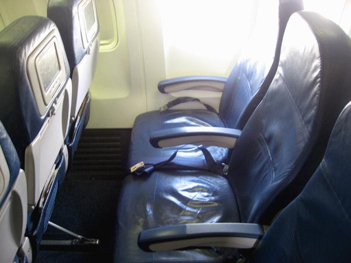 Economy seats of Delta's Boeing 737-800