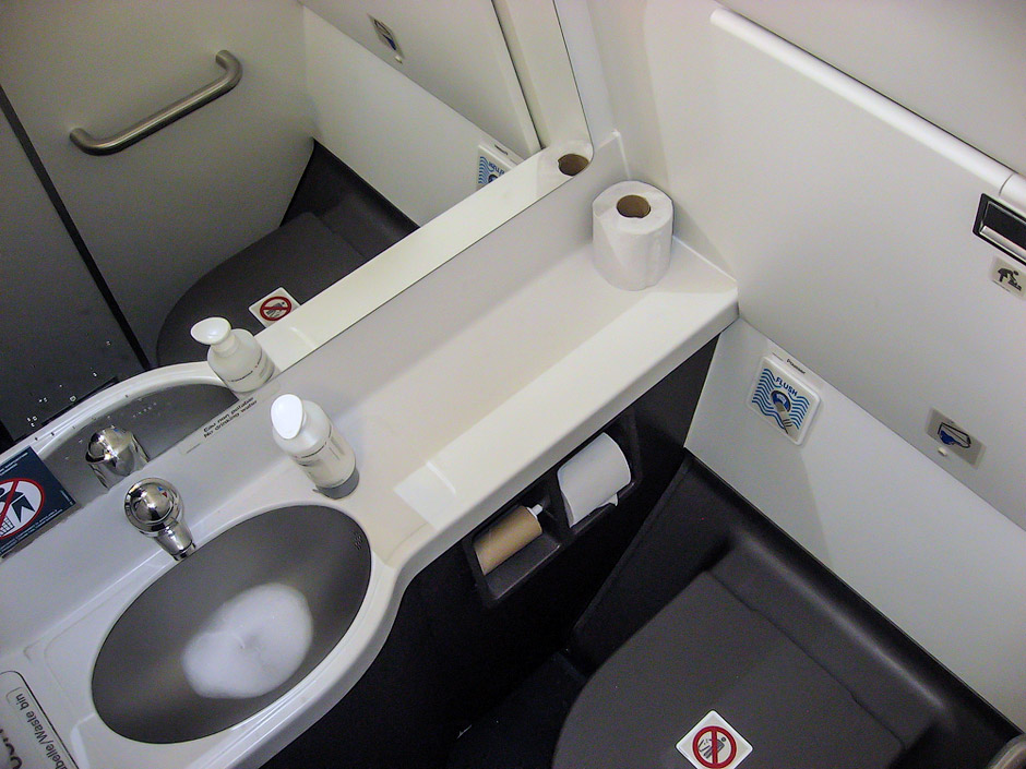 Lavatory of an Air France Airbus A320