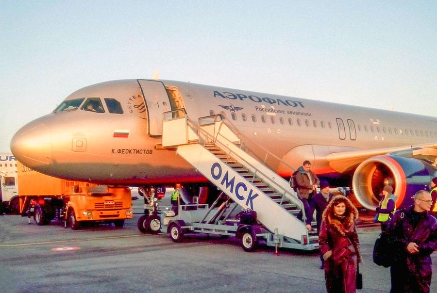 Москва - Омск, Аэрофлот, Airbus A320-214SL,VQ-BSL (К. Феоктистов)