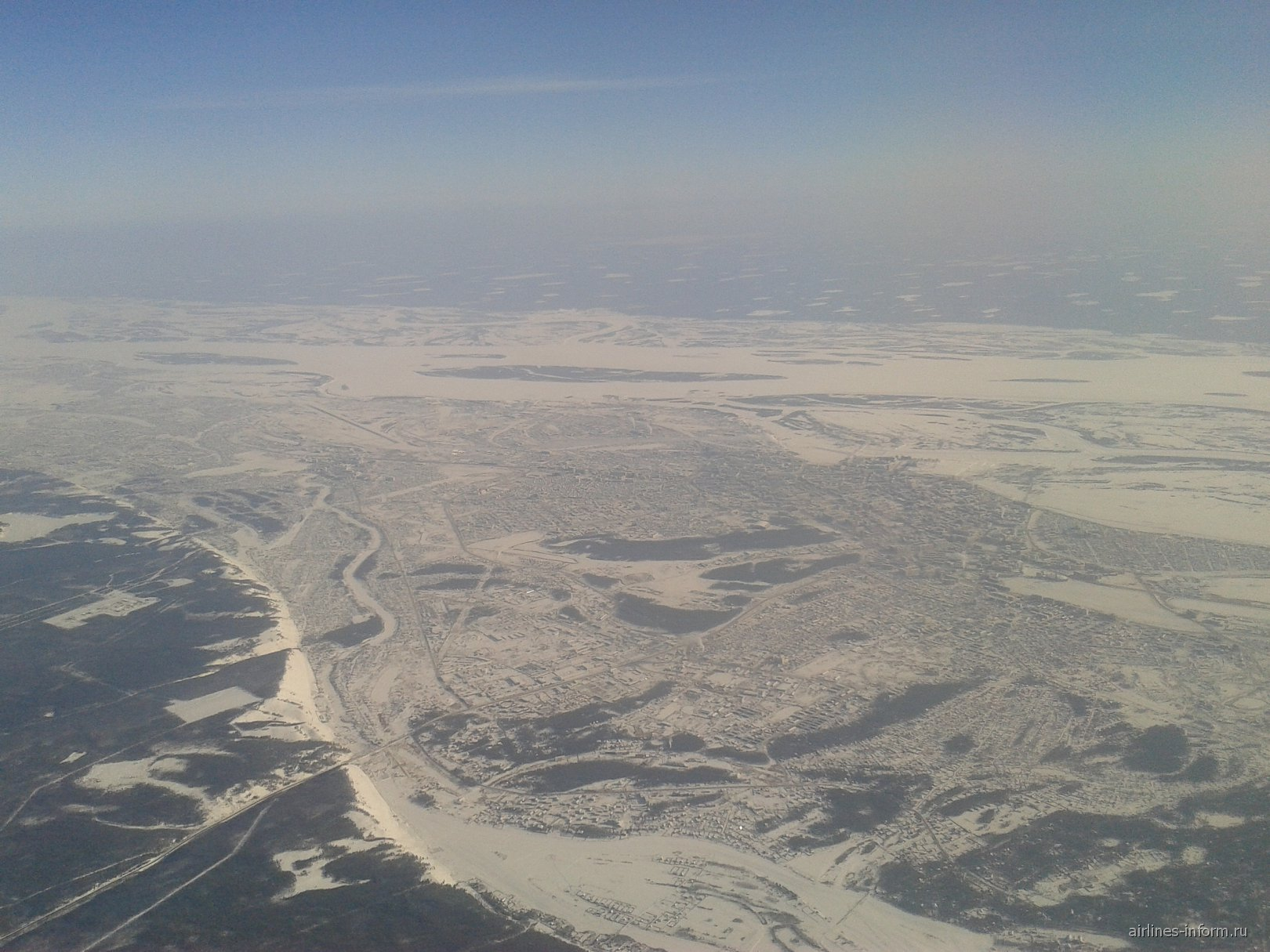 Город Якутск и река Лена