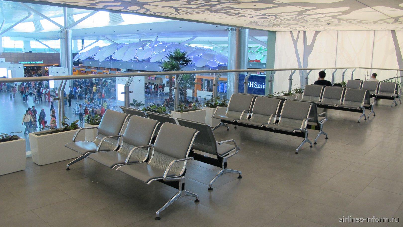 Зал ожидания в лоукост-терминале KLIA2 аэропорта Куала-Лумпур