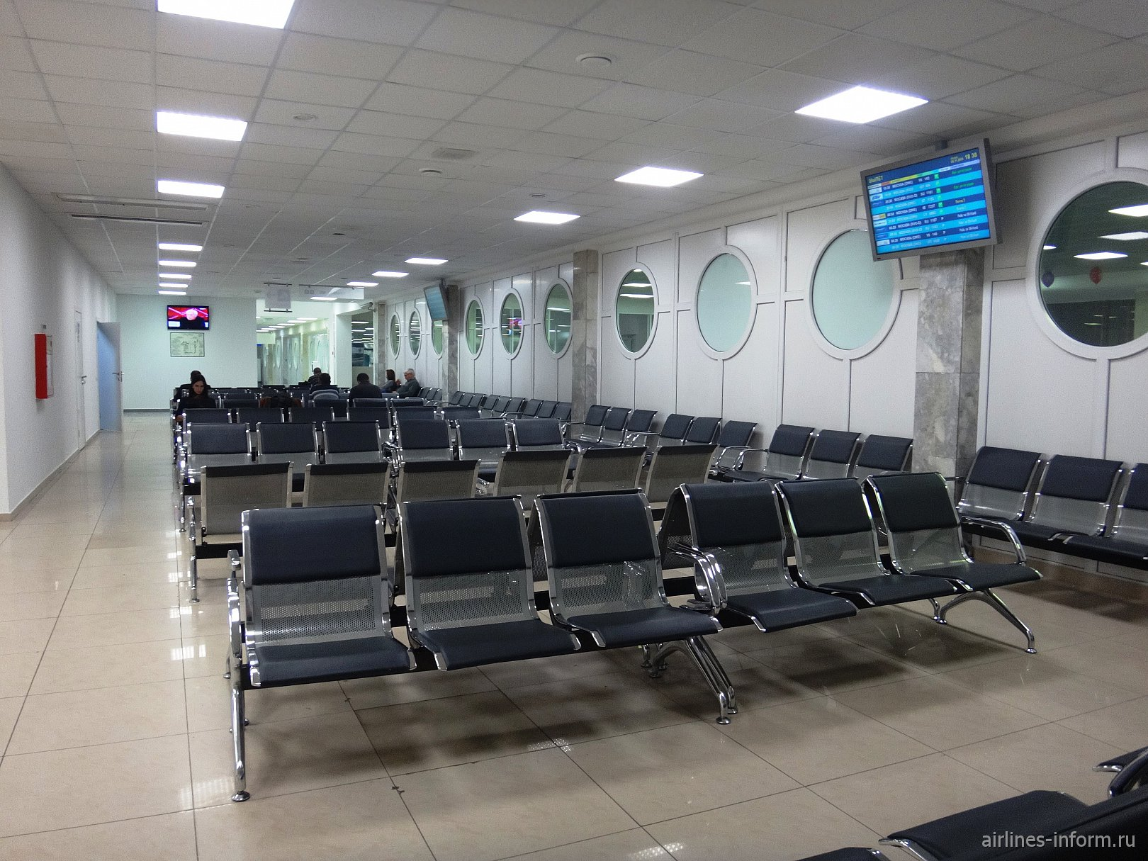 Зал ожидания в аэропорту Ростов-на-Дону
