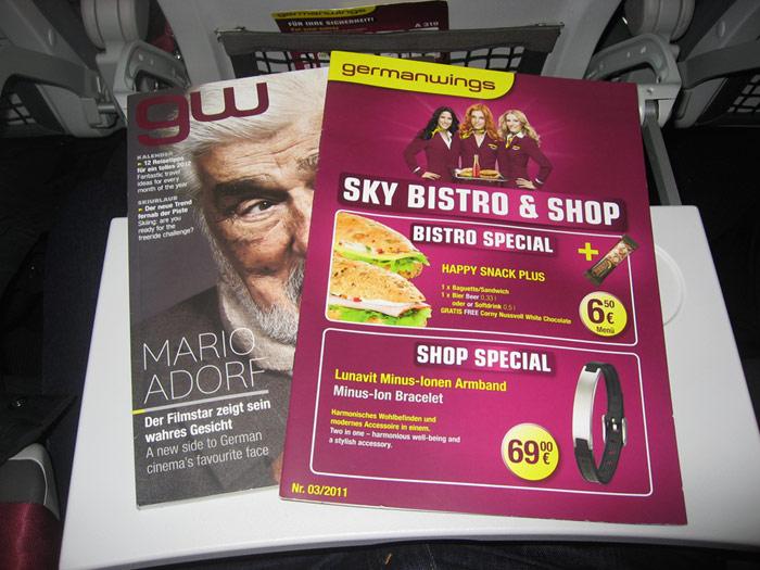 Бортовой журнал авиакомпании Germanwings