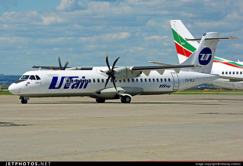 Самолет ATR 72 авиакомпании ЮТэйр