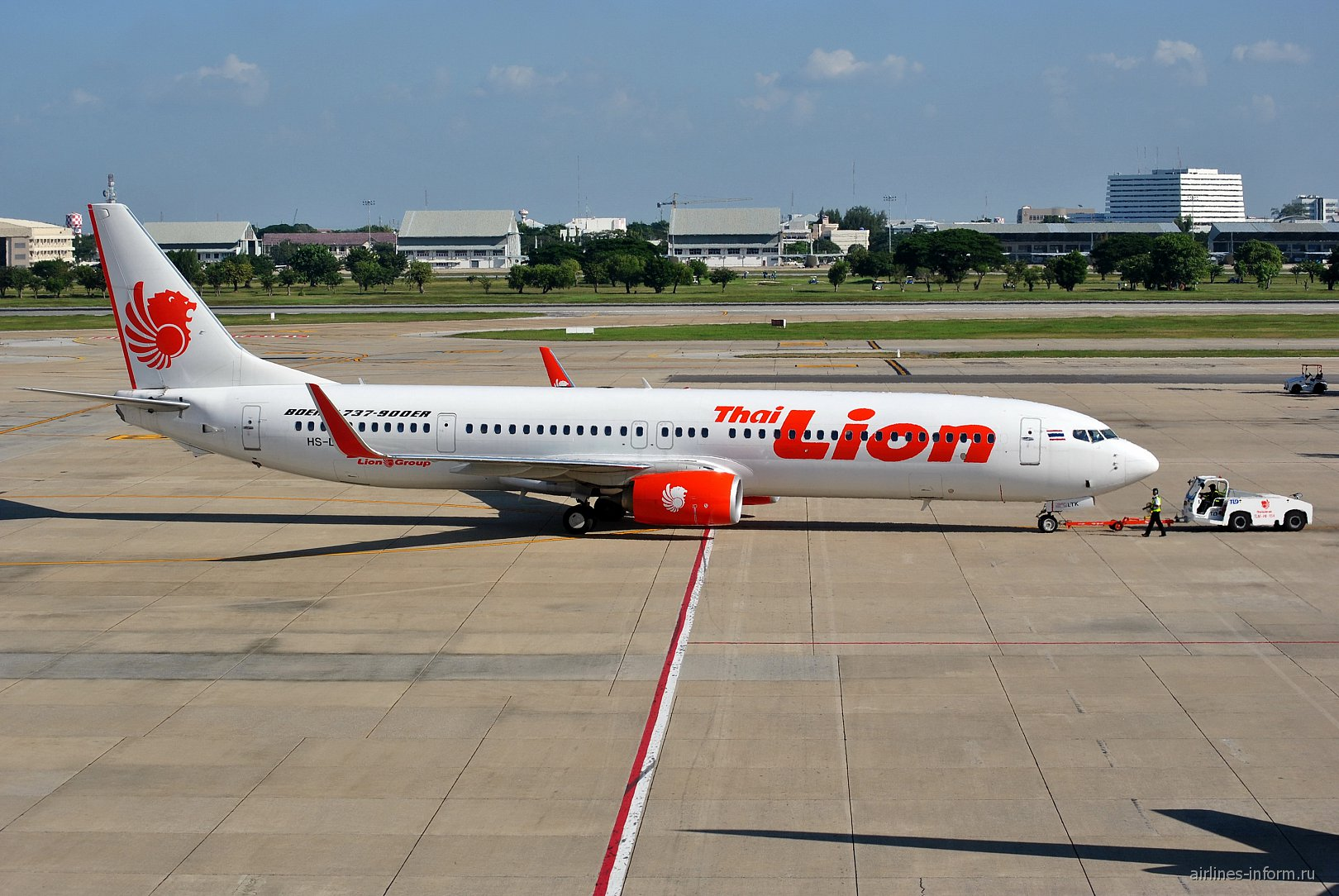 Boeing 737-900ER авиакомпании Thai Lion Air в аэропорту Бангкок Дон Муанг
