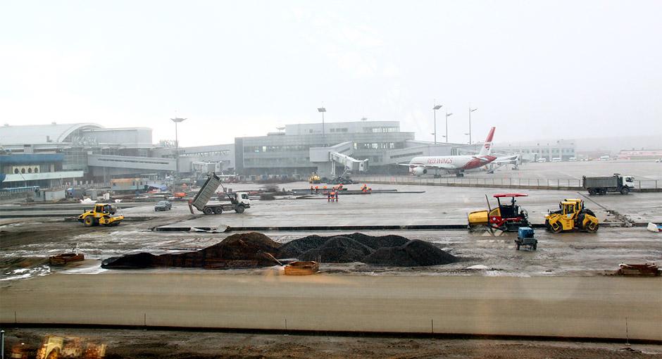 Строительство перрона в аэропорту Внуково