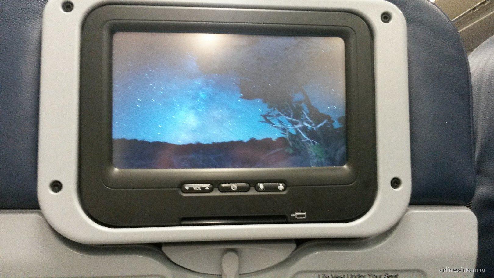 Система развлечений в самолете Airbus A330-200 авиакомпании US Airways
