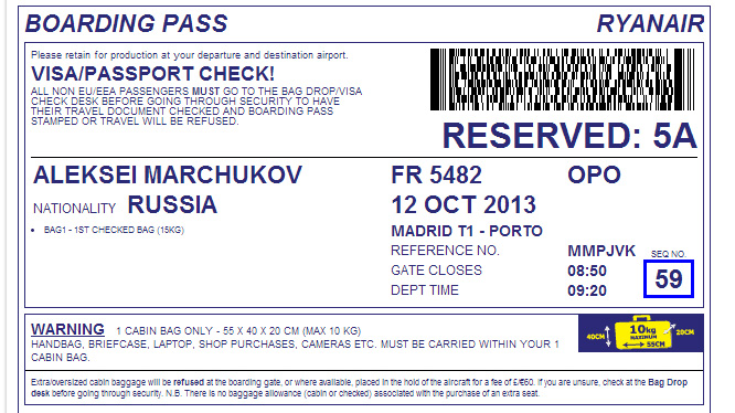 Регистрация на сайте авиакомпании Ryanair