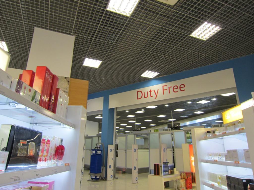 Магазин Duty-Free в терминале А аэропорта Киев Жуляны