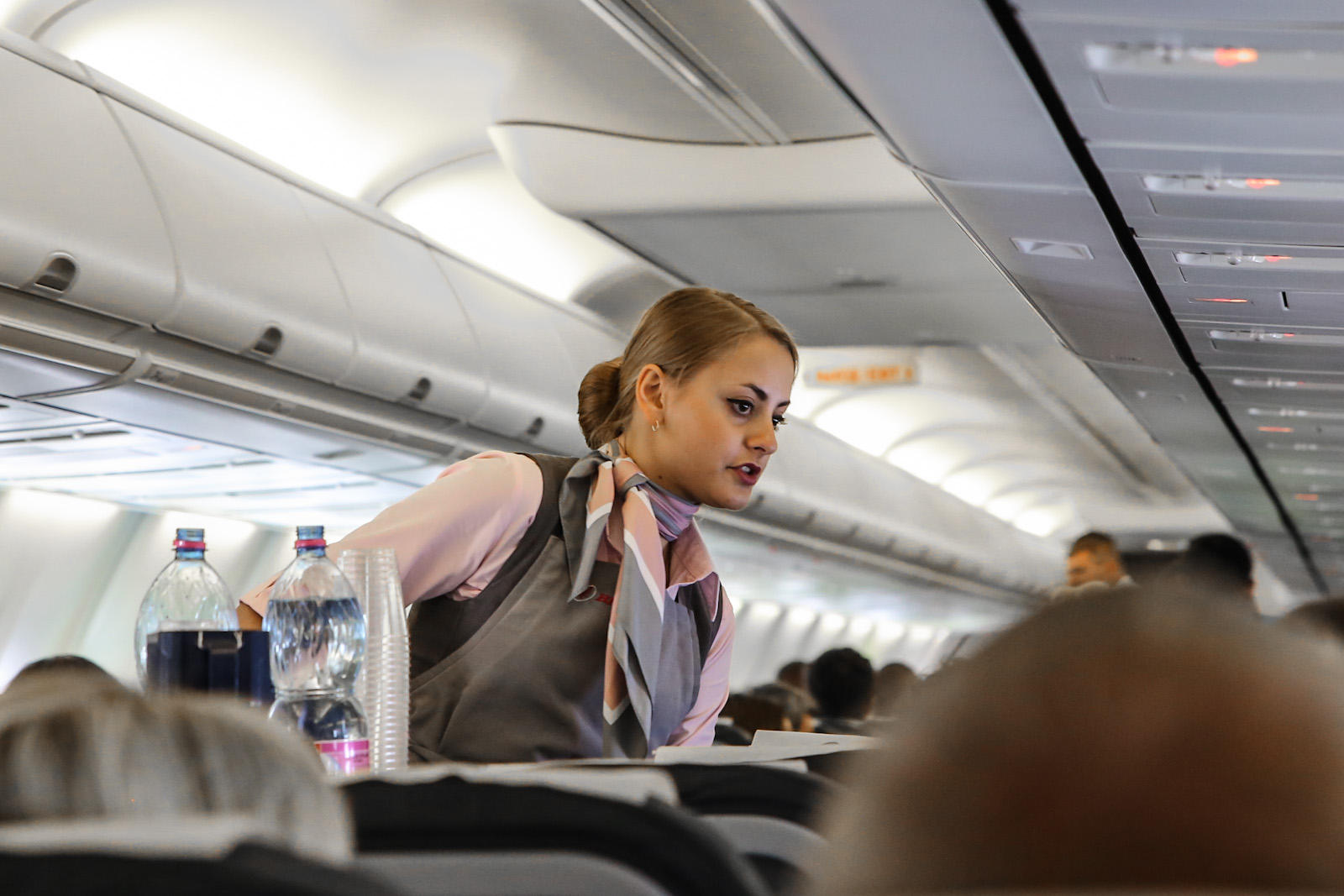Обслуживание пассажиров на рейсе Минск-Москва авиакомпании