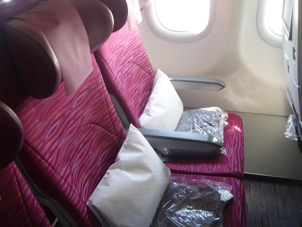 Пассажирские места эконом-класса в Airbus A321 Катарских авиалиний