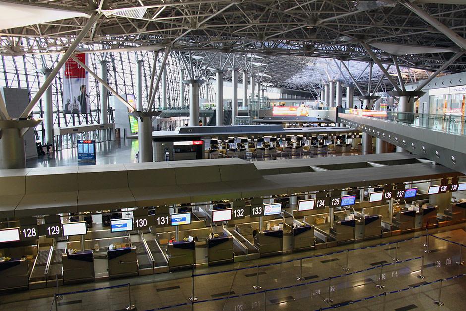 Стойки регистрации в терминале А аэропорта Внуково