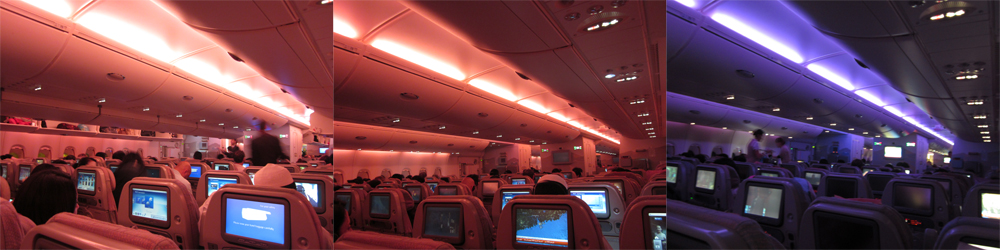 Подсветка салона лайнера Airbus A380