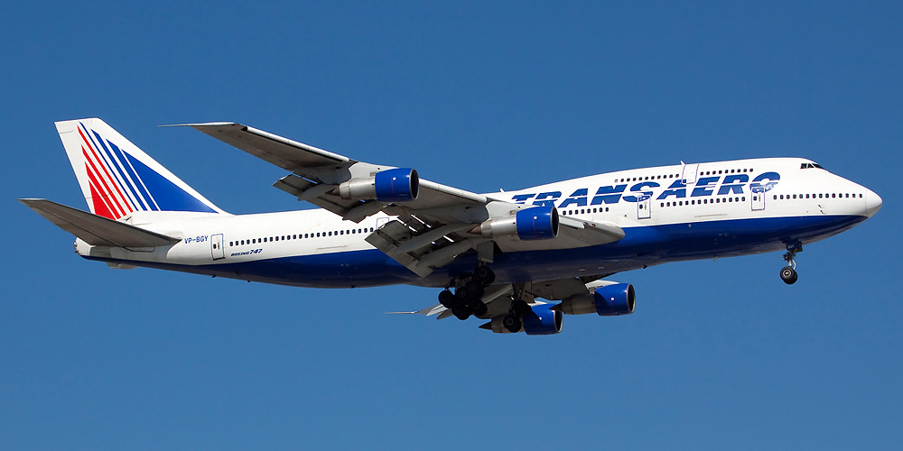 Boeing 747-300 operated by Transaero