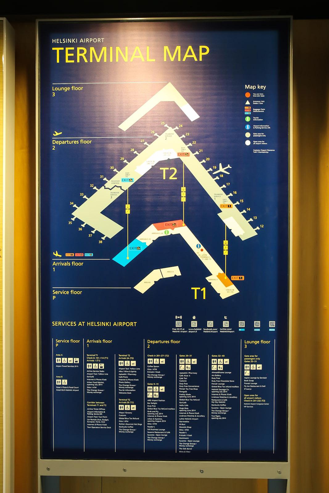 Схема аэропорта Хельсинки Вантаа