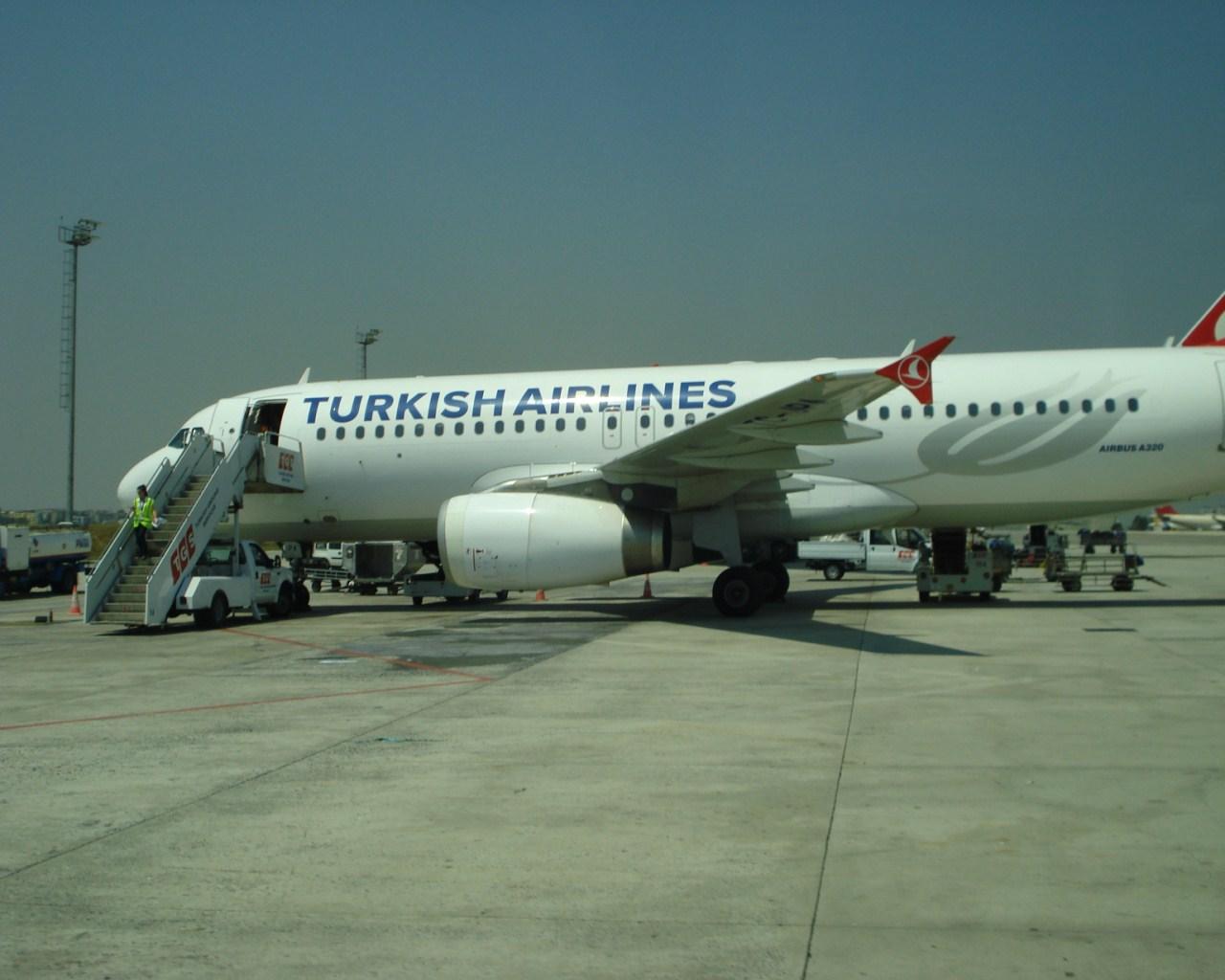 Airbus A320 Турецких авиалиний в аэропорту Стамбула