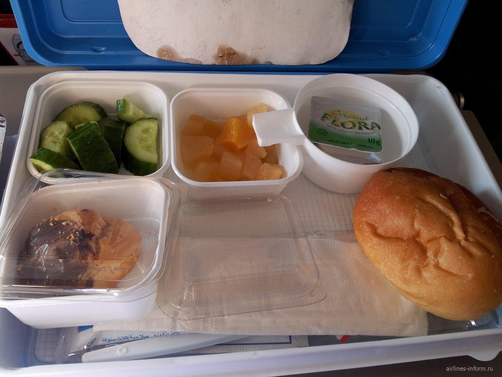 Питание на рейсе Шарм-Эль-Шейх-Москва авиакомпании Nordwind