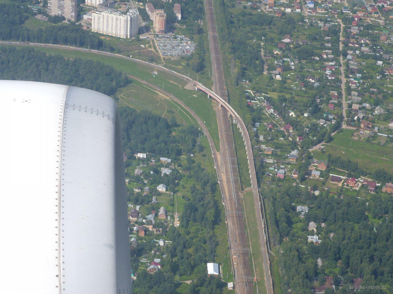 Взлет из аэропорта Шереметьево