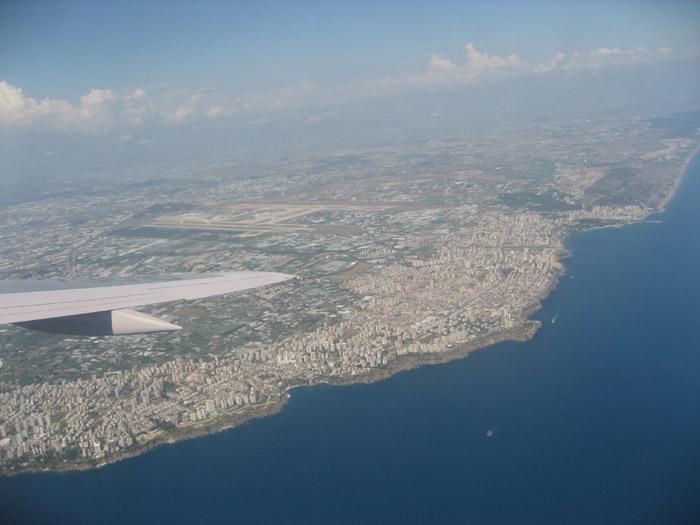 Вид на город Анталью и аэропорт