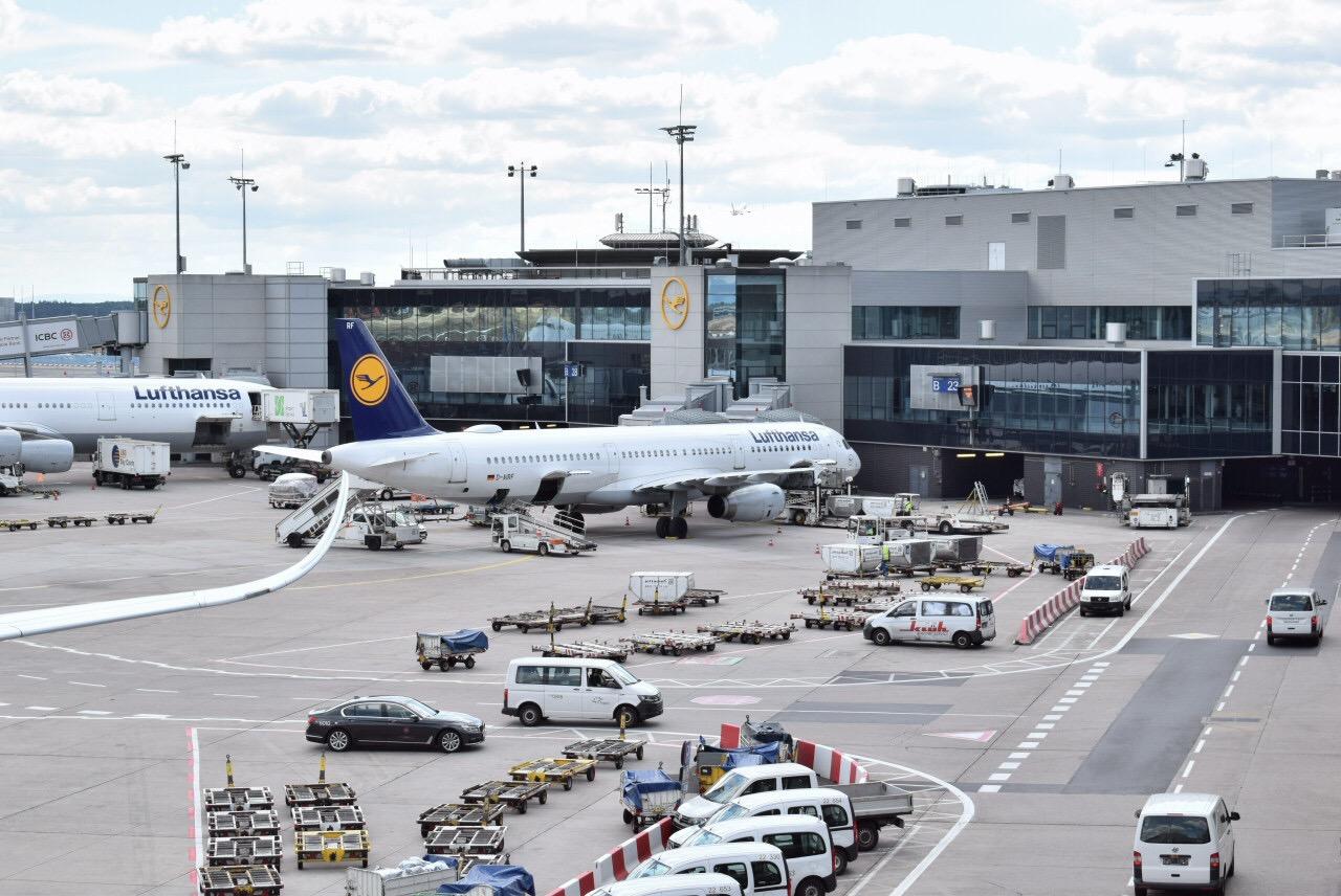 Гейты у терминала 1 аэропорта Франкфурт