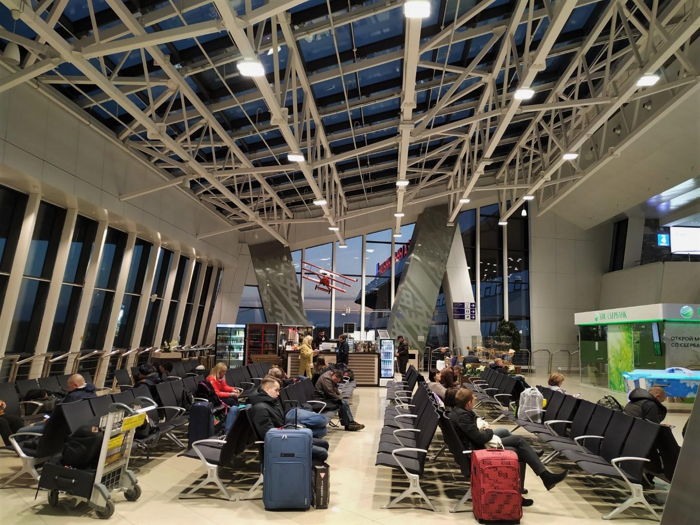 Зал ожидания в аэропорту Минск Национальный