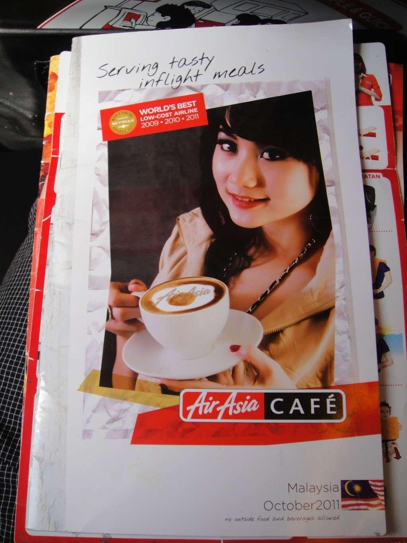 Реклама на борту авиакомпании Air Asia